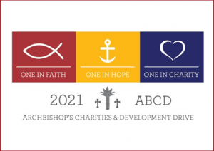 ABCD logo one in faith, in hope, and in charity