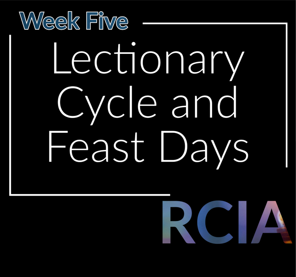Week Five, Lectionary Cycle and the Feast Days